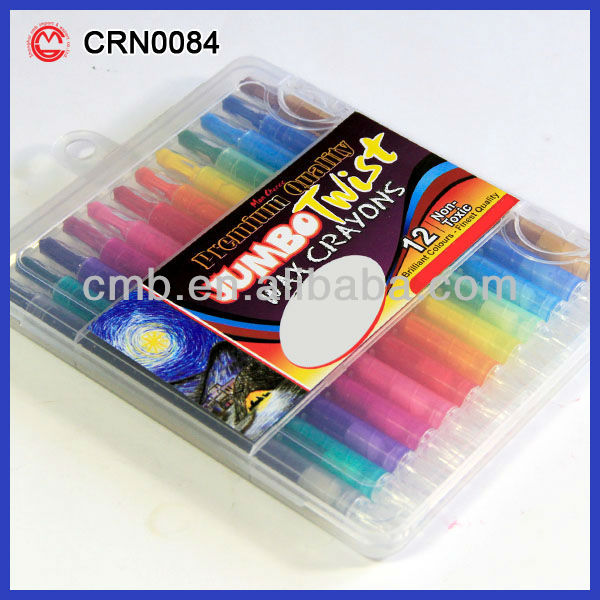 CRAYON PEN TWIST COLOR CRAYON 12PCS