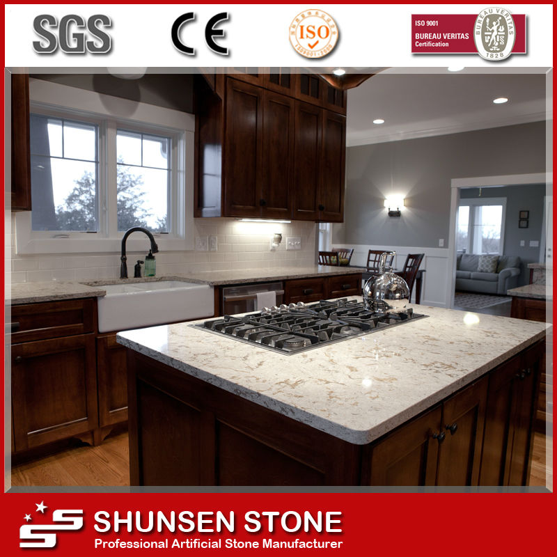 Cooking Table Top Heat Resistance Quartz Stone Wholesales SQC012