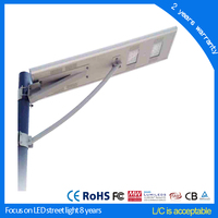 Government Project solar all-in-one street light with CCTV Camera 30w