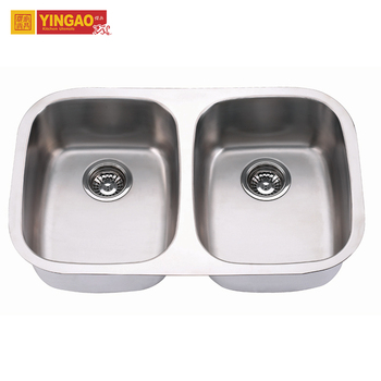 Modern Design Undermount Double Bowl 304 Stainless Steel Kitchen Sink