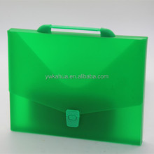 Office stationary plastic box file bag A4 PP clip document bag folder file case