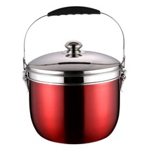 5L Insulated Thermos Hot Pot Camp Cooker Stainless Steel Cooker