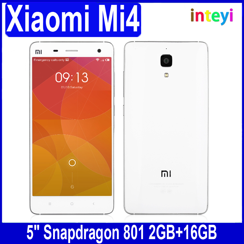 "Xiaomi Mi4 16GB Mi 4 Mobile Phone MIUI V6 Optional 5"" xiaomi Cell phone Qualcomm Snapdragon 801 Quad Core with GPS"