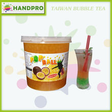 High Quality Passion fruit Popball for Taiwan Bubble Tea drinks Popping boba