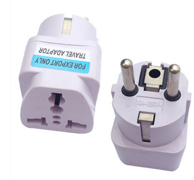 Universal Travel Adapter US AU UK to EU Plug Travel Wall AC Power Adapter 250V 10A Socket Converter White