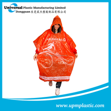 promotional plastic rain poncho for sport events