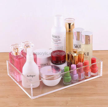 custom acrylic makeup organizer serving tray
