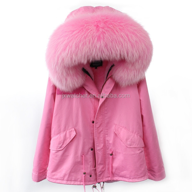 2016 Top selling products cheap price woman winter army fur coat / faux fur lining military parka fur coat