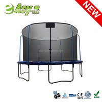 Easy-go 6ft/8ft/10ft/12ft/13ft/14ft/15ft/16ft adult indoor trampoline with Top Ring Enclosure System with CE certificate