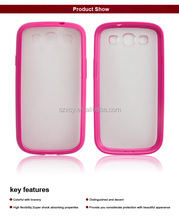 2 in 1 PC TPU mobile phone cover case for Samsung S3 i9300