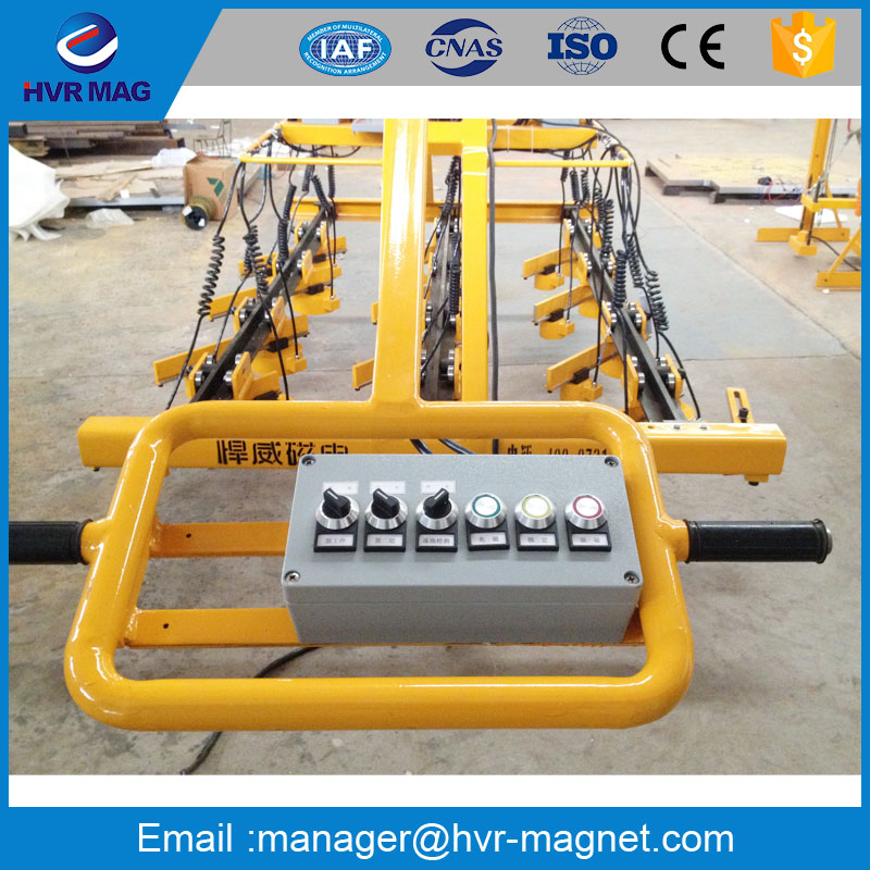 electro permanent magnet for steel plate flame cutting line