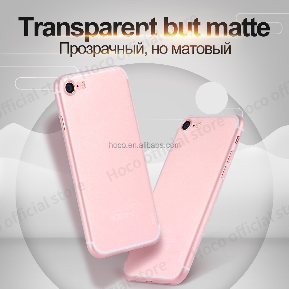 HOCO Ultra thin series PP cover for I7 high transprent 0.4mm matter camera protect case smartphone housing clear high quality