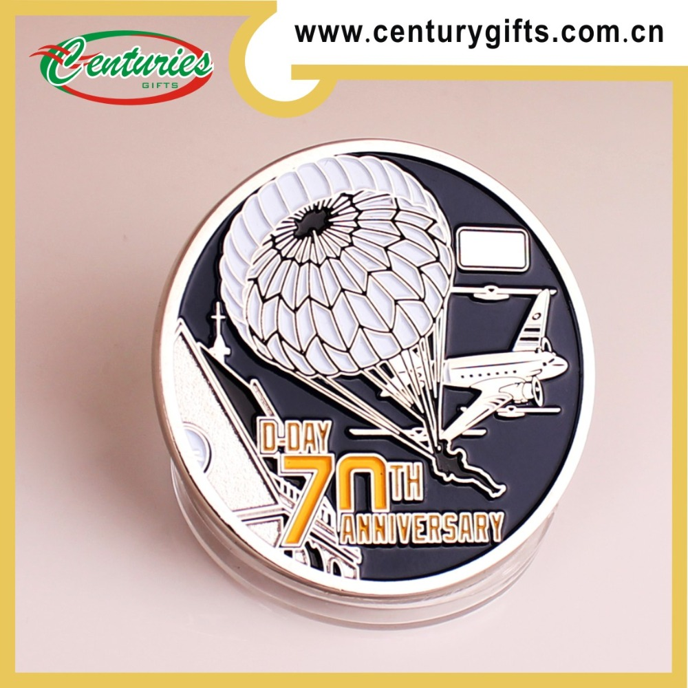 Factory direct sale production promotional gold/ silver/ brass military challenge eagle coin