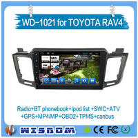 10.1'' Android Toyota RAV4 for sale used gps navigation for car touch screen 2 din supporting bluetooth radio MP4/MP5 OBD2 TPMS