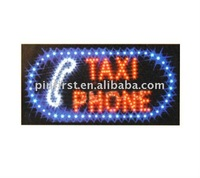 Lot 20 Multicolor LED Light TAXI PHONE Neon Signs Display New 220V 3W