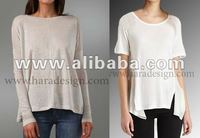 cotton round neck tops