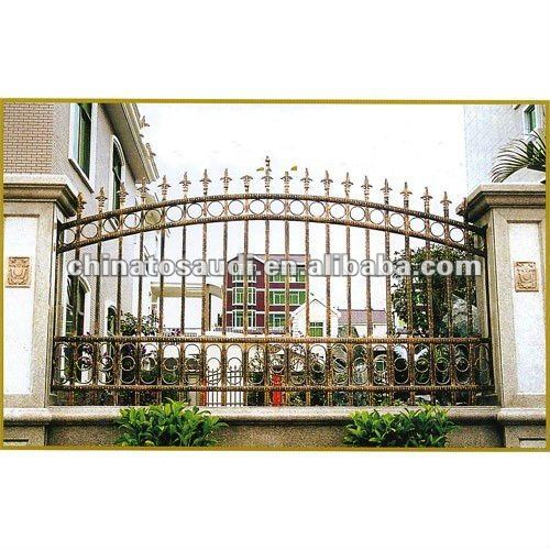 Beautiful wrought iron fence for garden, farm, play ground