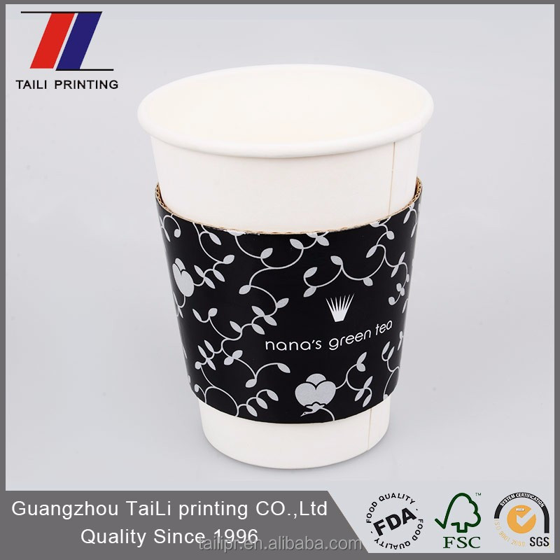 Hot sale adjustable size kraft coffee cup sleeve/paper cup sleeve