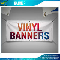 Custom print vinyl flag banner in two sides