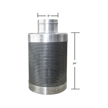 Fresh Intake Air Filter 6Inch | Carbon Filter | Scrubber For Inline