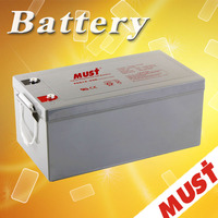 Must Best Deep Cycle Solar Panel GEL Battery 12V 200Ah for Solar System Power Storage Battery