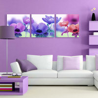 Famous Modern Living Room Decoration Flower Decorative Painting
