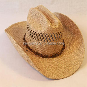 100% straw nature color man cowboy hat with beads accessories