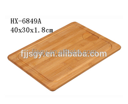 custom made bamboo chopping block with groove