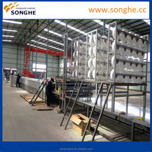 3.2m gel-coat flat making line/ roof sheet making machine by Songhe FRP