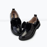 Wholesale Casual Genuine Leather Black Ladies Fancy Footwear Made in China