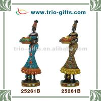 african polyresin figure for decor