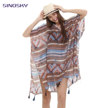 Women's Floral Tassels Fringes Summer Beach Wear Casual Dresses