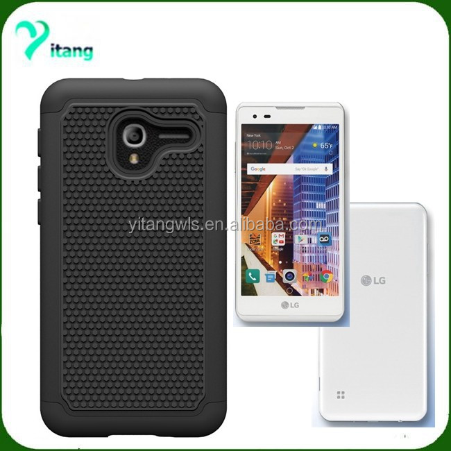 made in china Guangzhou factory smart phone defendar case for LG Tribute HD LS676/LG X Style K200 Slim armor Ballistic case