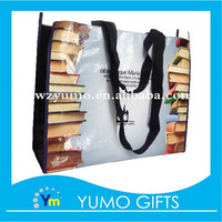 fancy glossy lamination non woven shopping bags