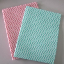 china nonwoven wipes factory wave print towel company cleaning cloth for pets