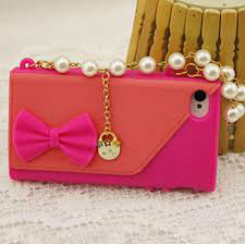 Handbag Case with Pearls for iPhone