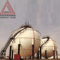 Spherical LPG/CNG/LNG storage tank for oil field