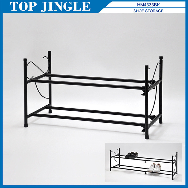 2 Tier Simple Extensible Indoor Shoe Rack