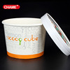 16oz ice cream paper cup with haagen daz lid