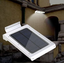 outdoor led garden lights solar panel LED Solar lamp 350 Lumen Wireless 16 Motion Sensor Light Outdoor Wall Garden Lamp