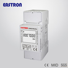 1 Phase 2 wires SDM220Modbus Din Rail digital RS485 power analyzer,energy meter