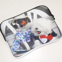 2015 Cute dog hot selling neoprene tablet PC tablet sleeve