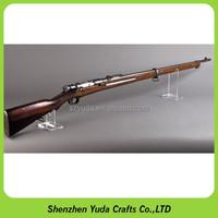 Retail store plastic gun case acrylic gun display stand wholesale