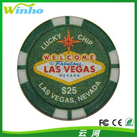 Winho Las Vegas Casino Token Poker Chip Fridge Magnet