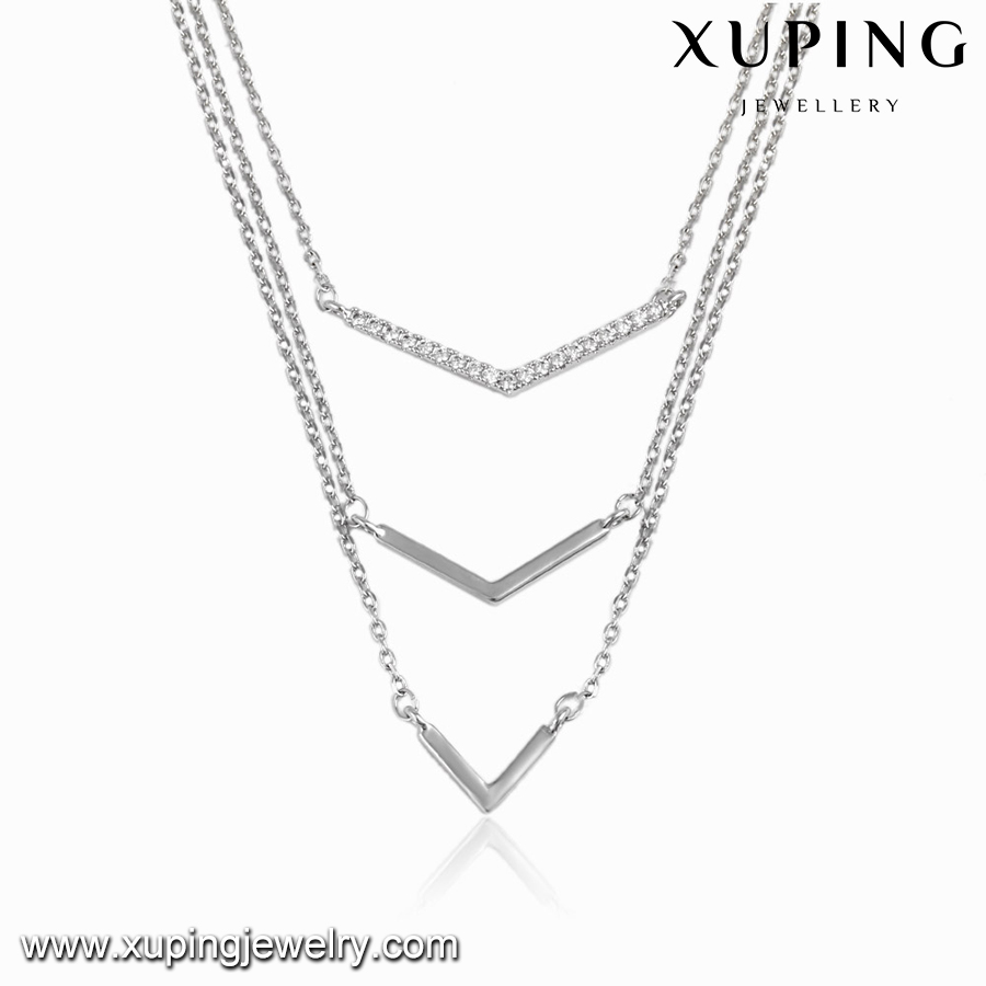 00103 XUPING fashion simple necklace jewelry,in Europe style chain gold necklace,y necklace