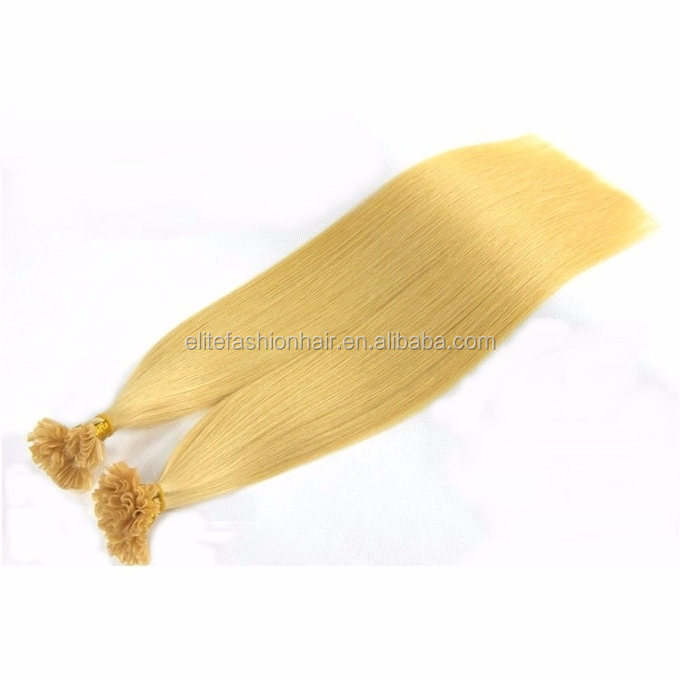 wholesale 100 Keratin cheap remy human hair u tip brazilian hair extensions