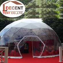 8m Wedding Decoration Room Tent with Carpet and Door Half Transparent Tents House