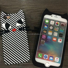 Drop shipping zebra stripes cat cell phone case for iphone 5 5s SE case