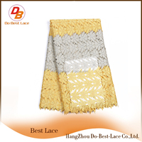 China Supplier Quality African Cord Lace For Bridal Wedding Dress