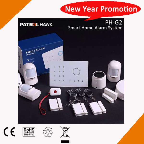 2015 Easy To DIY Home Burglar Alarm Control Panel With 30 Wireless Zones and Complete Sensors PH-G2